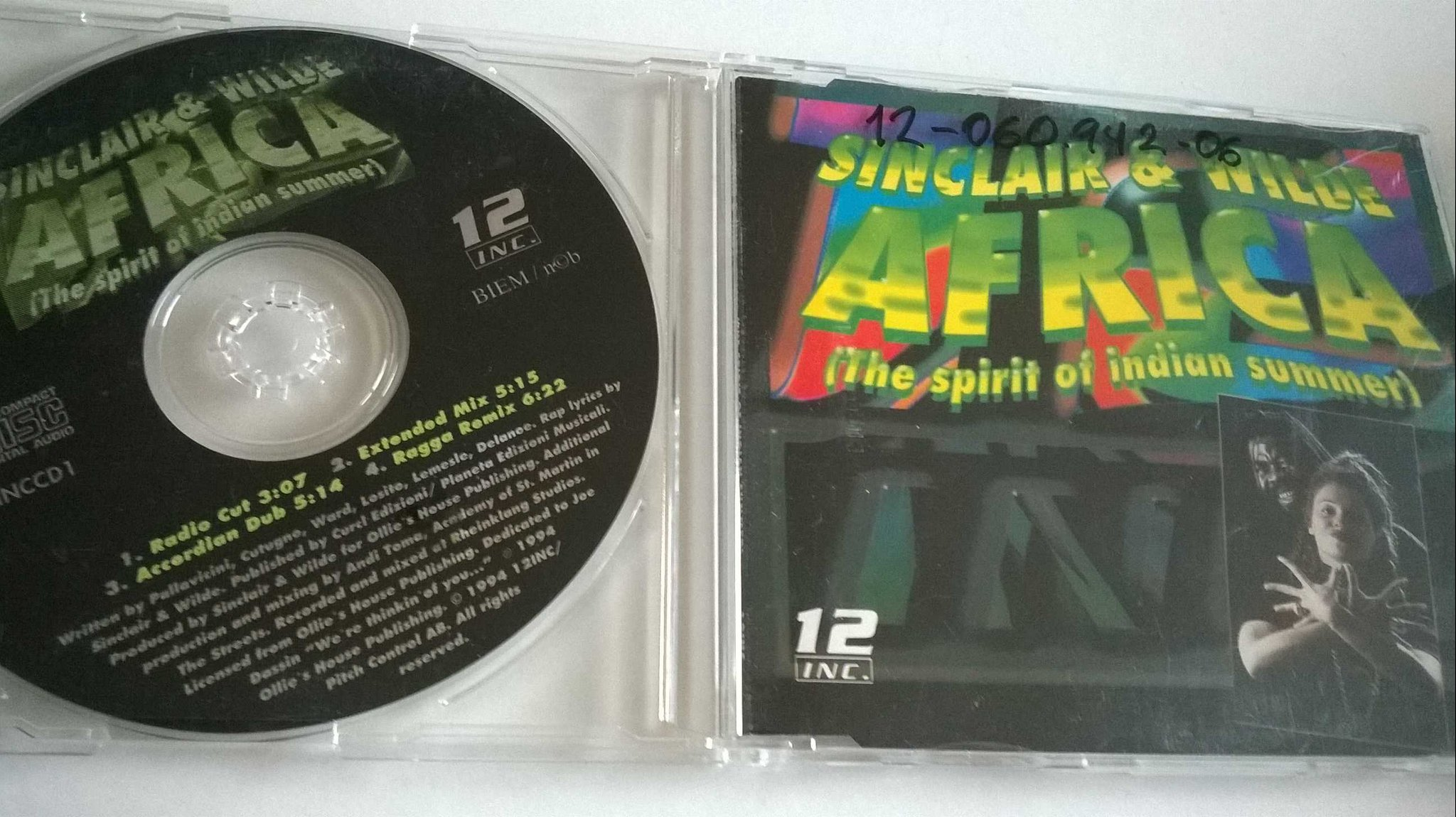 Sinclair & Wilde - Africa (The Spirit Of Indian Summer), CD