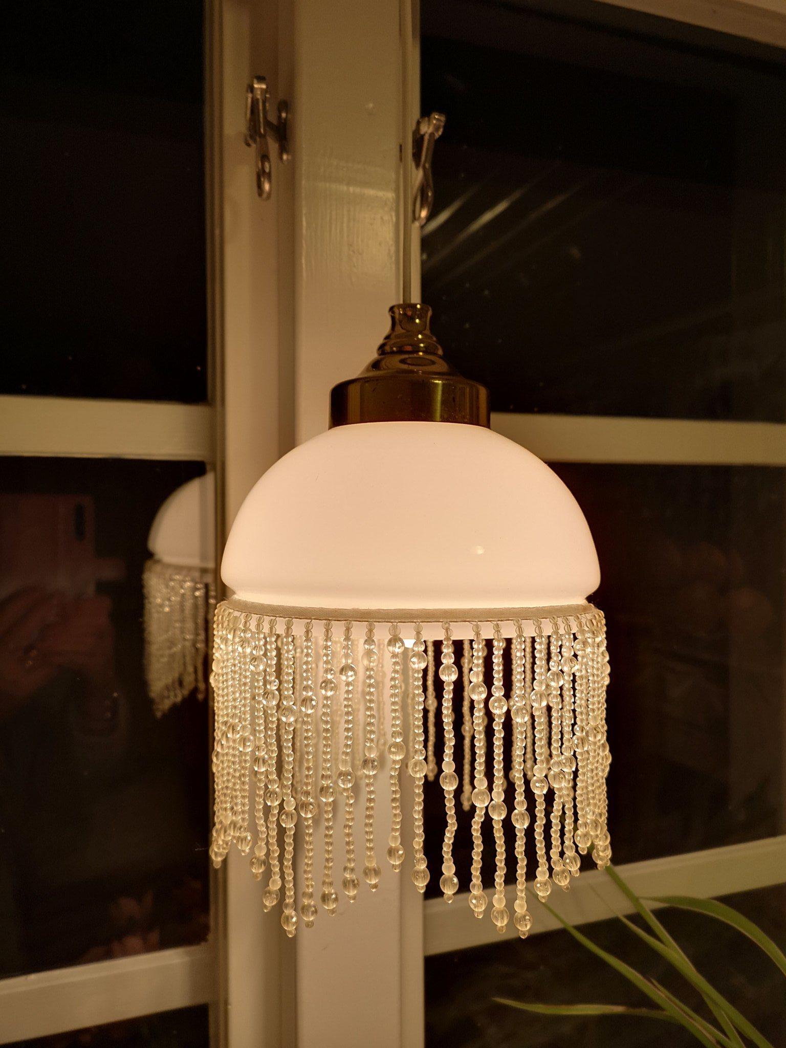 fönsterlampa shabby chic