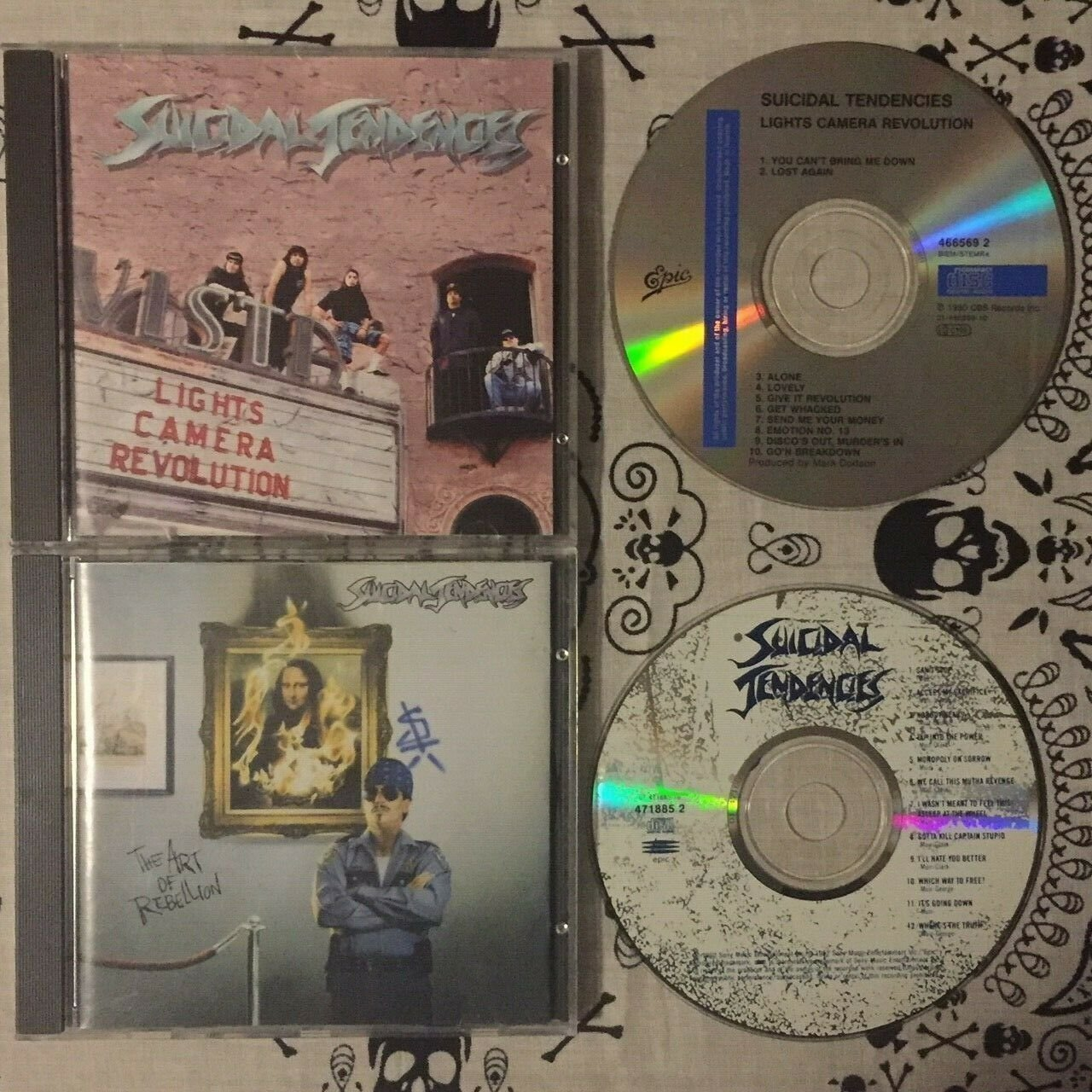 SUICIDAL TENDENCIES 2 CD LOT Lights Camera Revolution The Art of Rebellion EXCEL