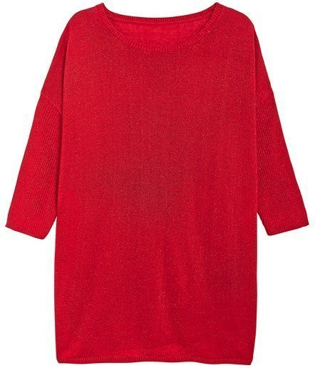 röd glittrig tröja