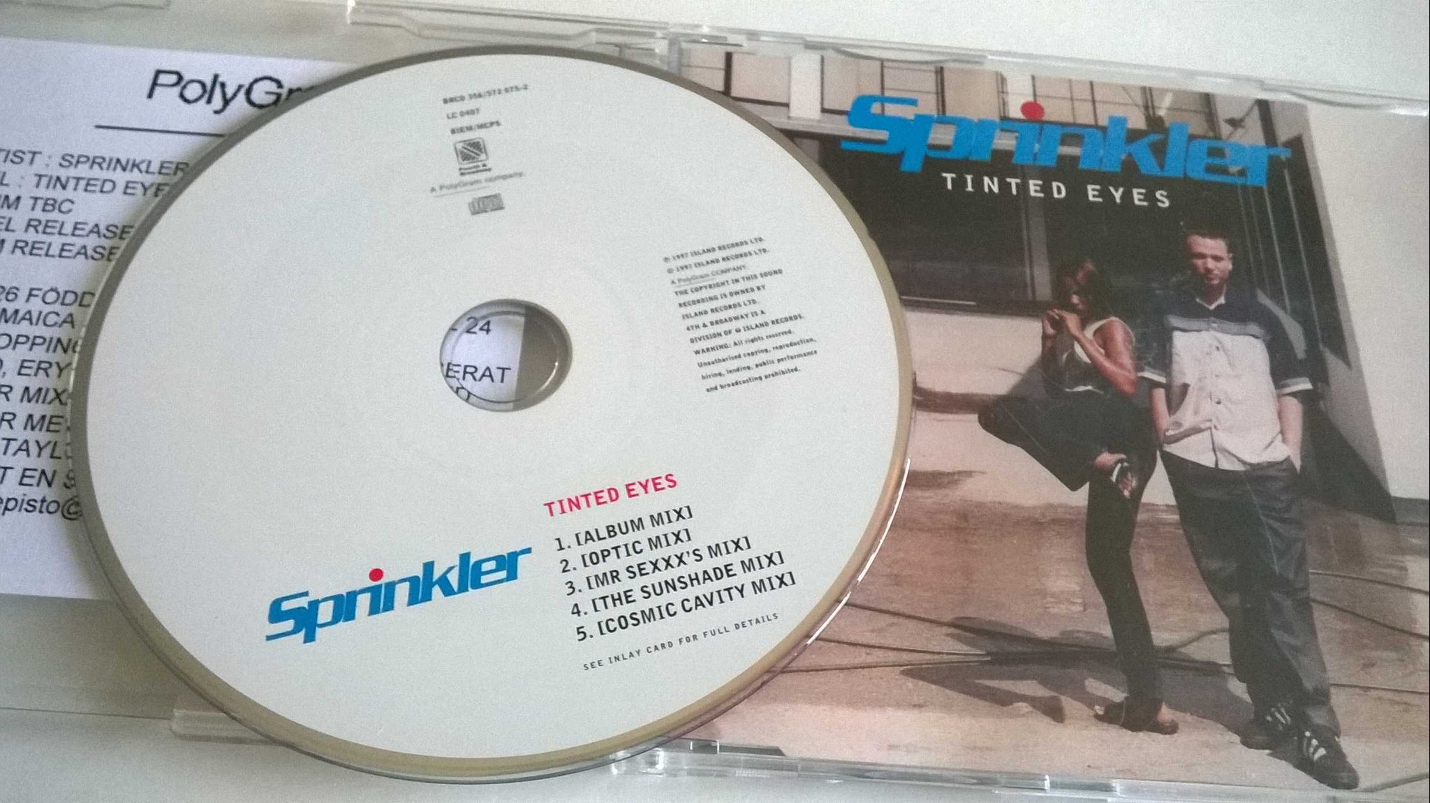 Sprinkler - Tinted Eyes, CD, Single