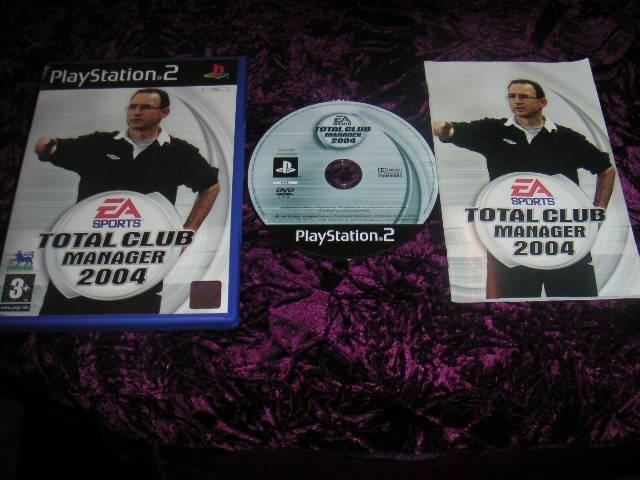 TOTAL CLUB MANAGER 2004 PLAYSTATION 2