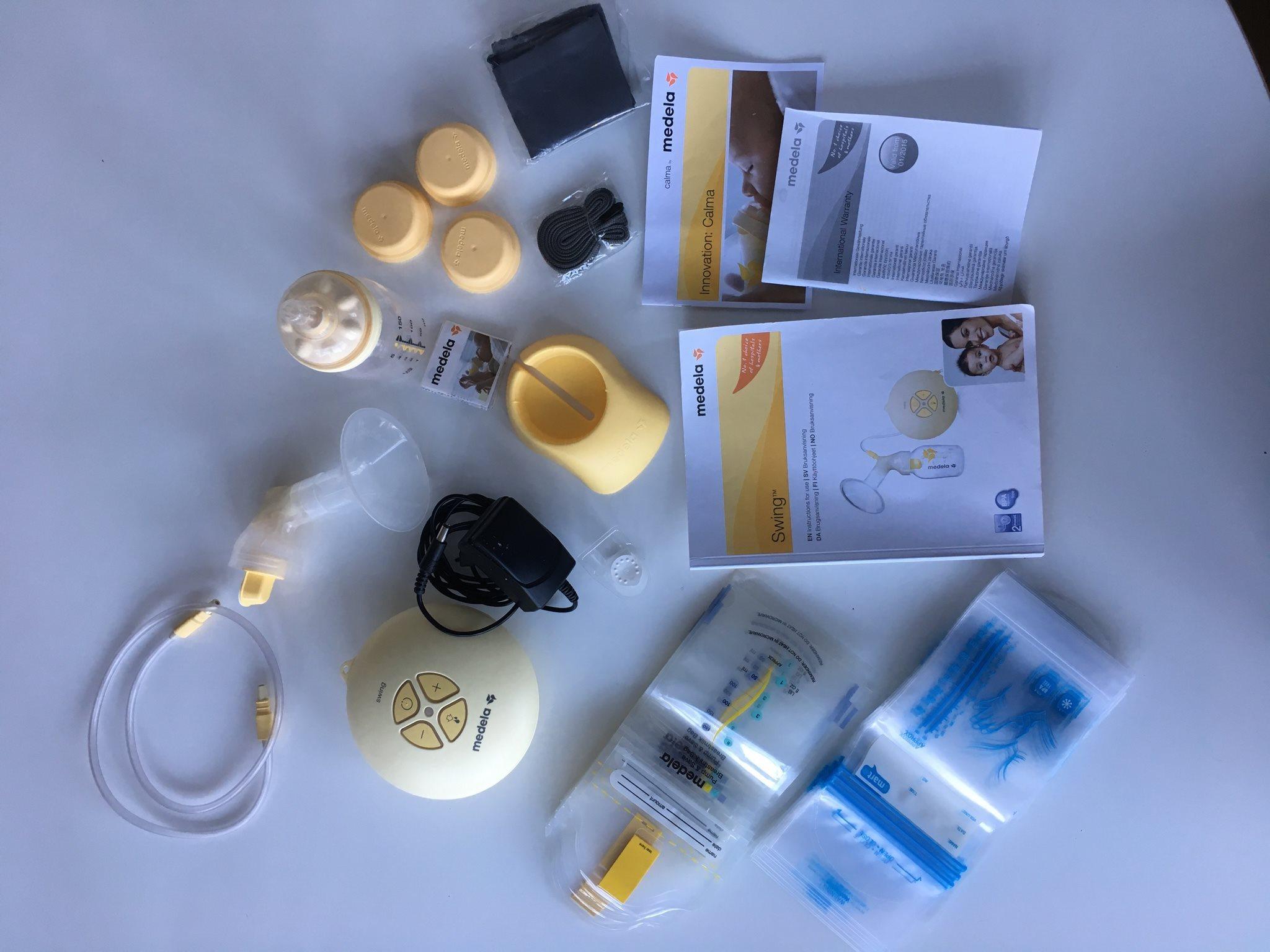 Medela Bröstpump Swing + Bröstmjölkspåsar (330968841) ᐈ Köp på Tradera 3e79a21532f7a