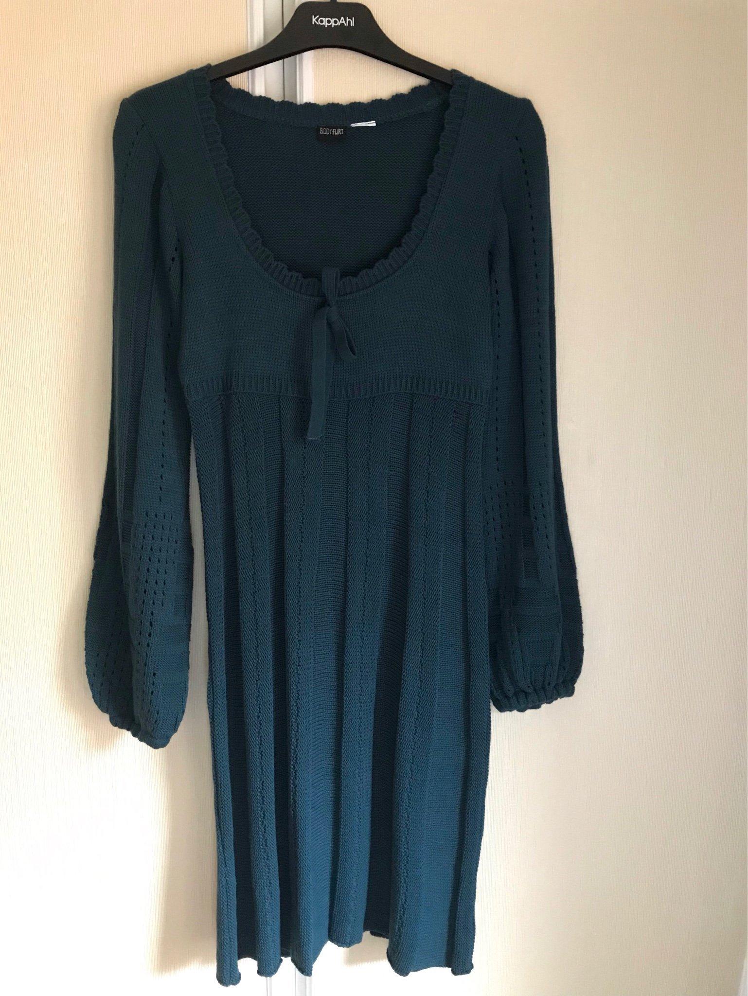 e817983bdad6 Turkos stickad klänning från Bodyflirt stl M (349518952) ᐈ Köp på ...