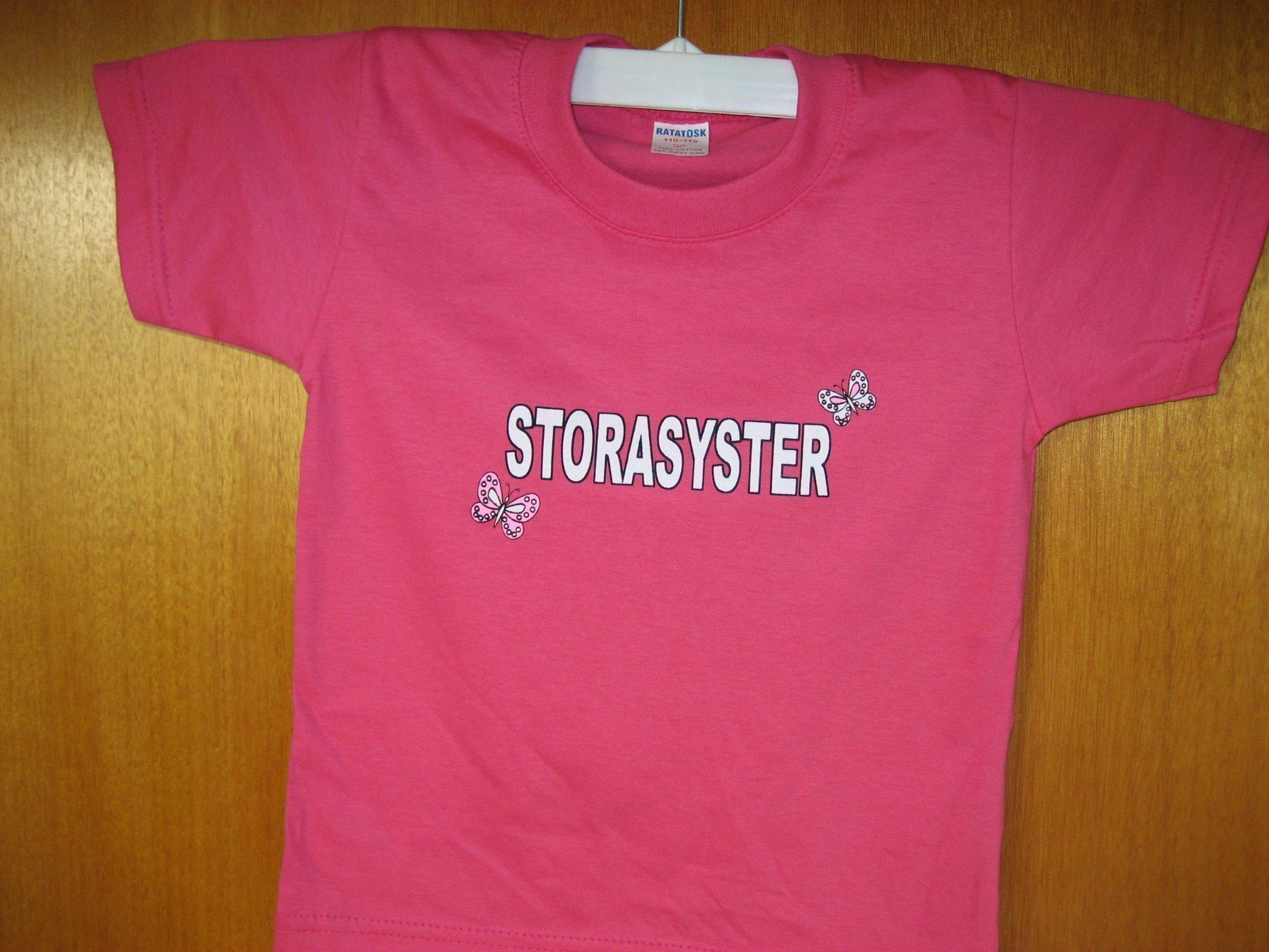 ROSA T SHIRT STORASYSTER barntröja STORLEK 110 .. (406680090