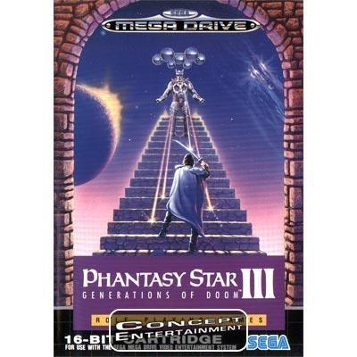 PHANTASY STAR 3 III - GENERATIONS OF DOOM (i box) till Sega Mega Drive