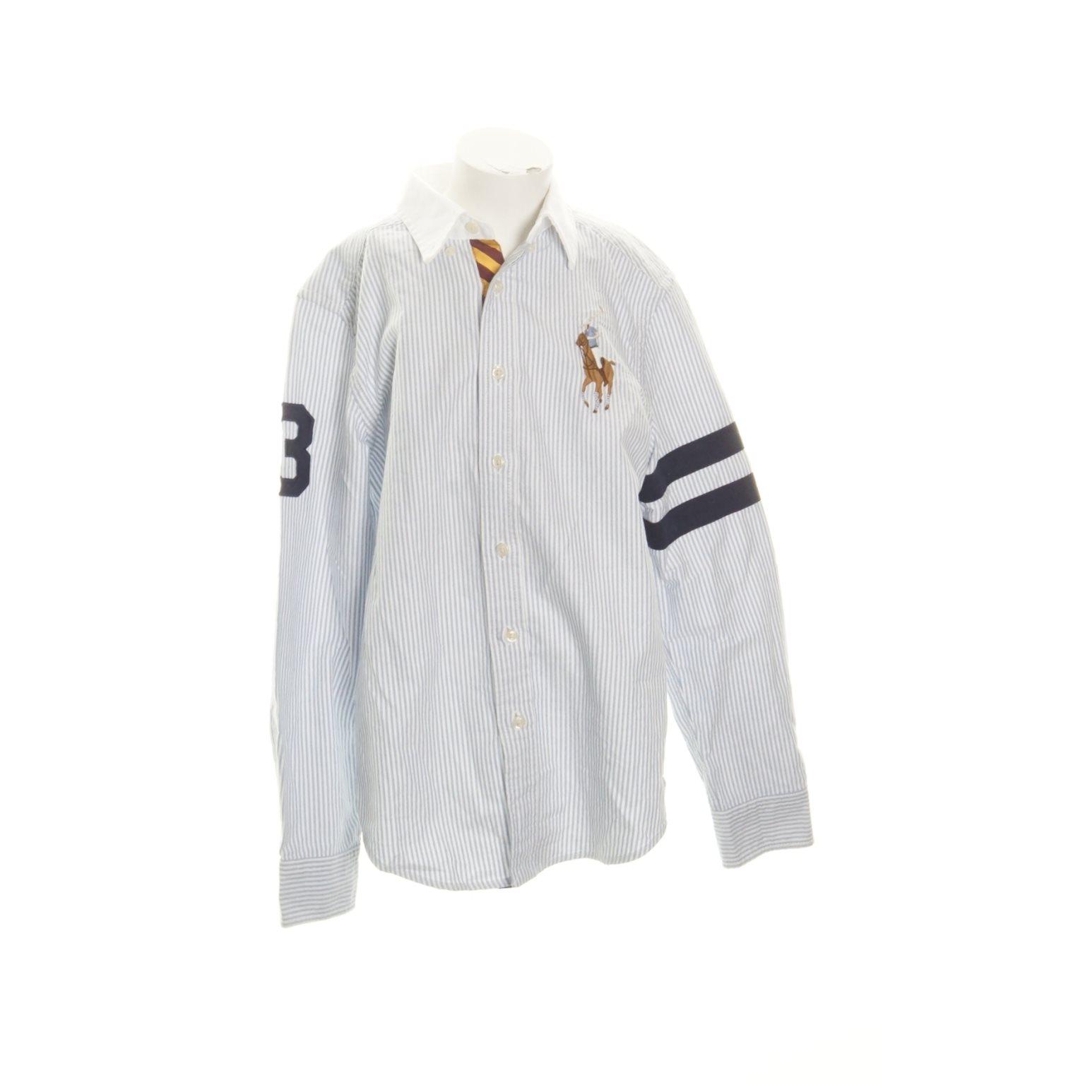 dd538e979010 Ralph Lauren, Skjorta, Strl: M, Vit/Blå (335026994) ᐈ Sellpy på Tradera