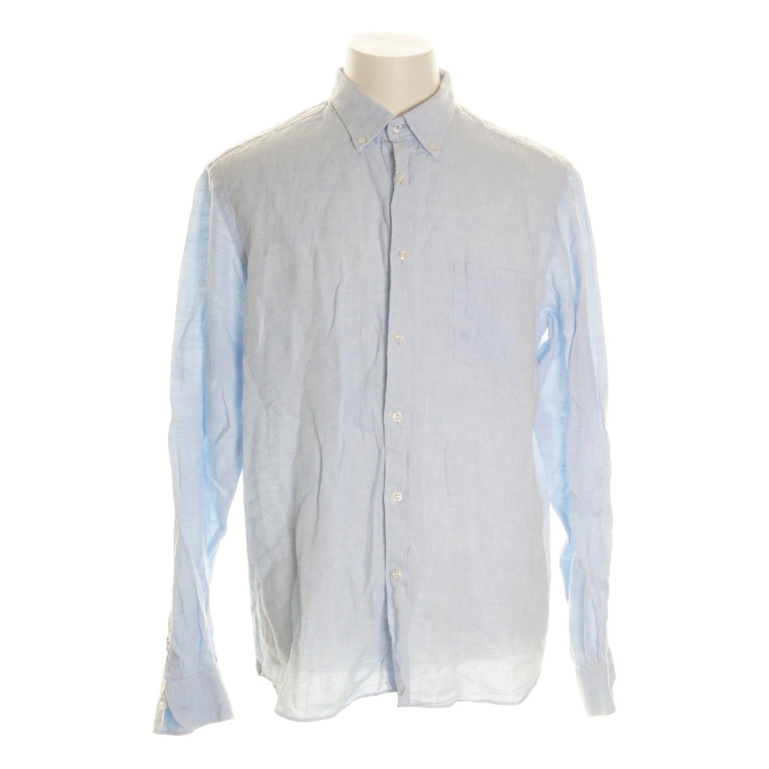 Massimo Dutti, Skjorta, Strl: XL, Blå, Linne