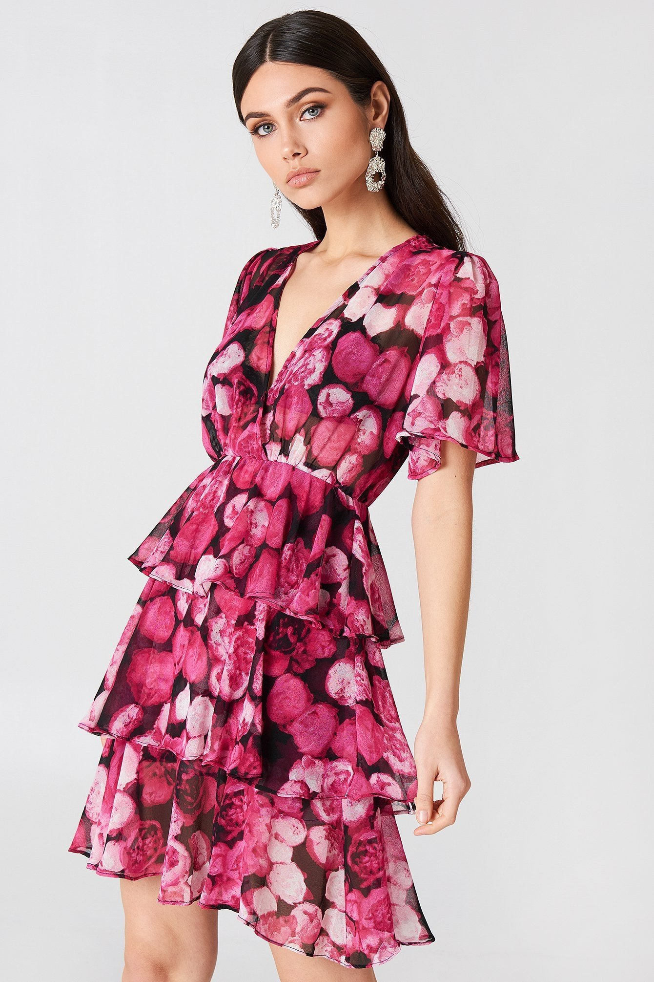 nakd triple layer flounce dress STL 38 (348795016) ᐈ Köp på