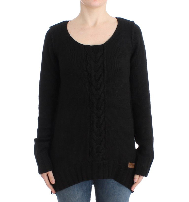 Cavalli - Black knitted wool sweater