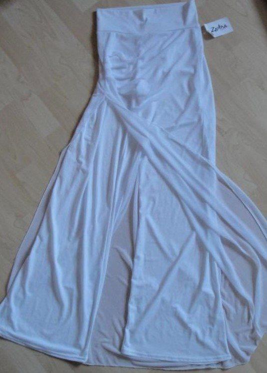 vit chiffong kjol