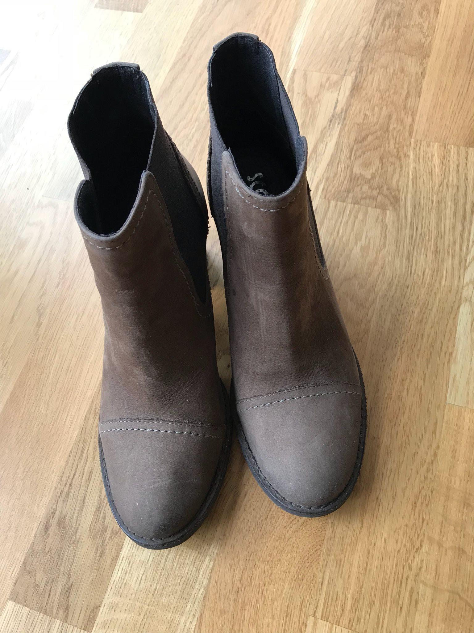 cdf04899458 SCORETT Skinn boots ankel kängor Bruna Stl 39 (331895628) ᐈ Köp på ...