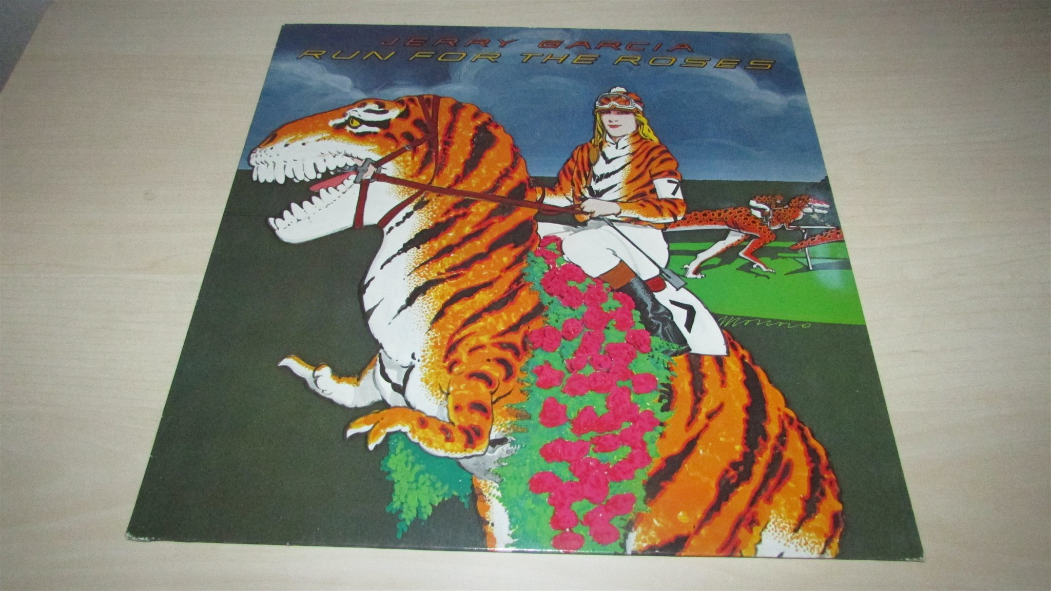 JERRY GARCIA - RUN FOR THE ROSES - LP - 1982 - GRATEFUL DEAD