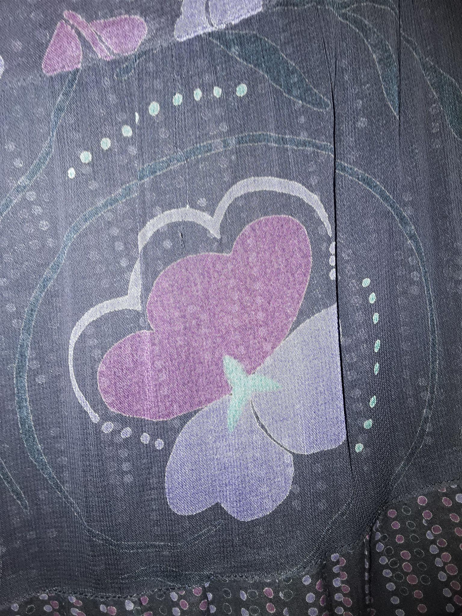 Blommig lila, lång kjol, Gudrun Gudrun Gudrun Sjödén XL f0a10c