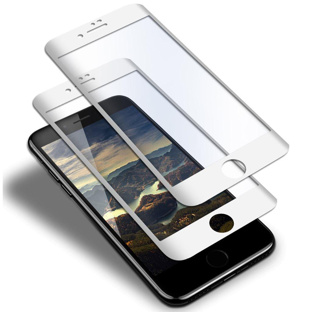2x 5D Skärmskydd till iPhone 7 Plus 8 Plus Vit - Härdat Glas Skydd  Pansarglas b95aafddc0f93