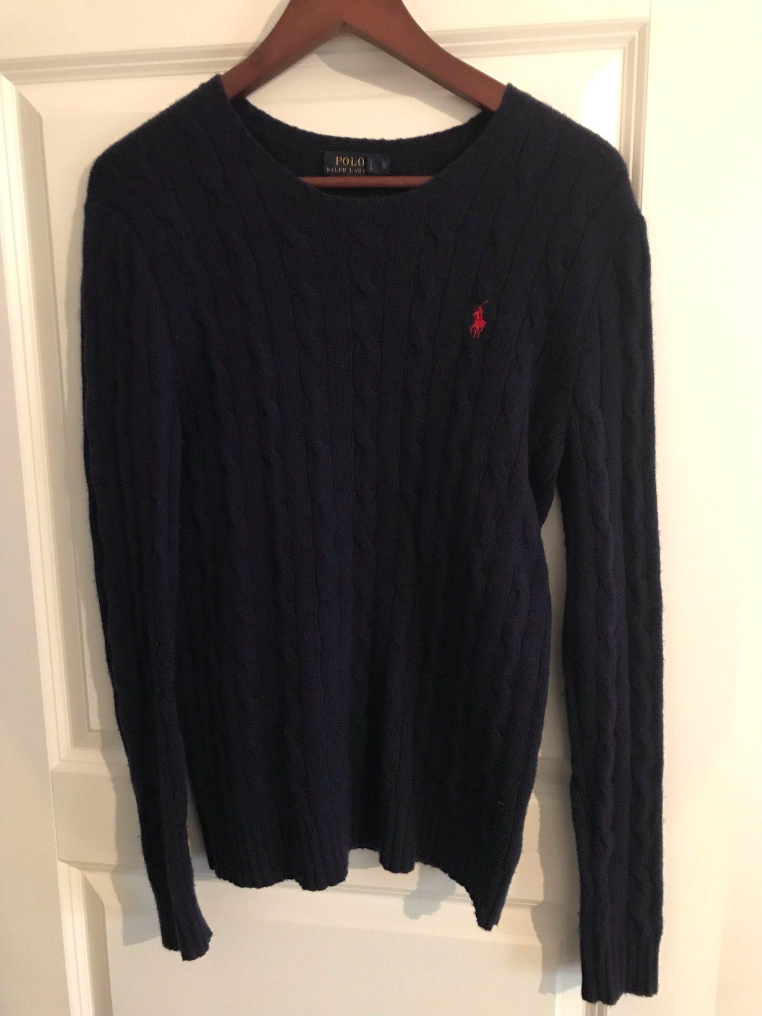 Ralph Lauren stickad tröja M (346850864) ᐈ Köp på Tradera