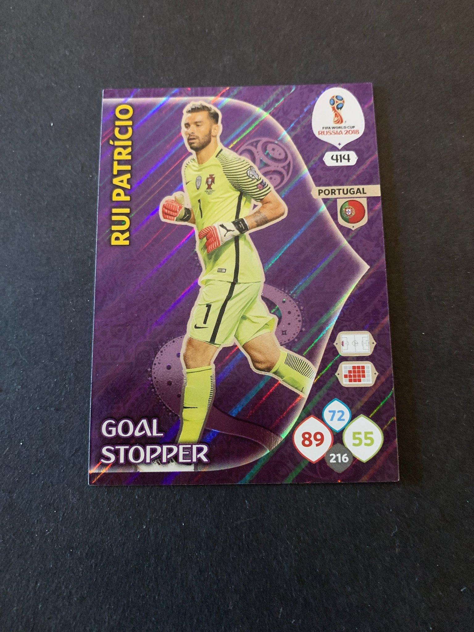 Panini Adrenalyn Road World Cup Brazil 216-rui patricio-goal Stopper