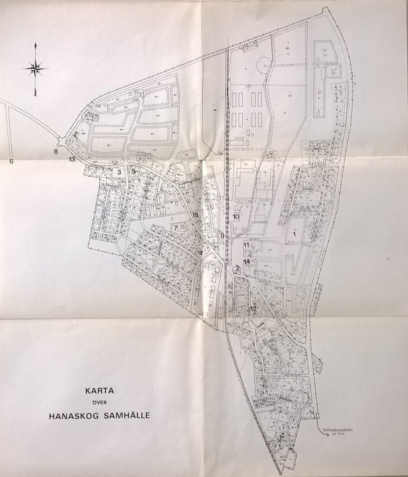 Karta Over Hanaskog Samhalle I Ostra Goinge Kom 377414520 ᐈ