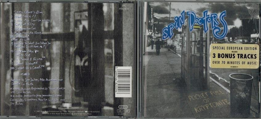 SPIN DOCTORS / Pocket Full  Of Kryptonite (CD 1992)