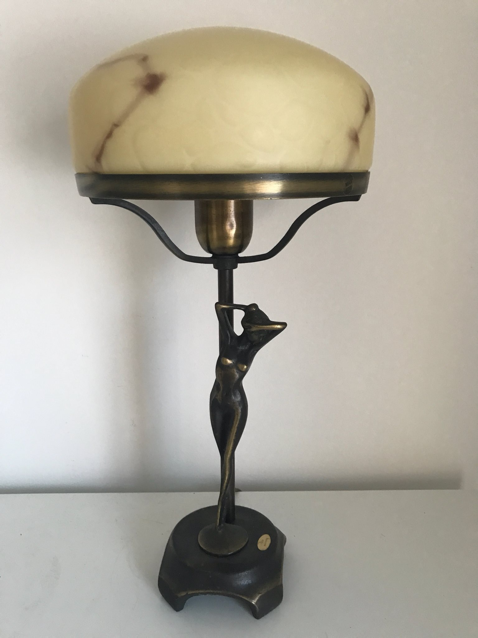 Bardzo dobry Bordslampa Lampa Glas Mässing Ateljé Lyktan Art.. (342512085) ᐈ BC46