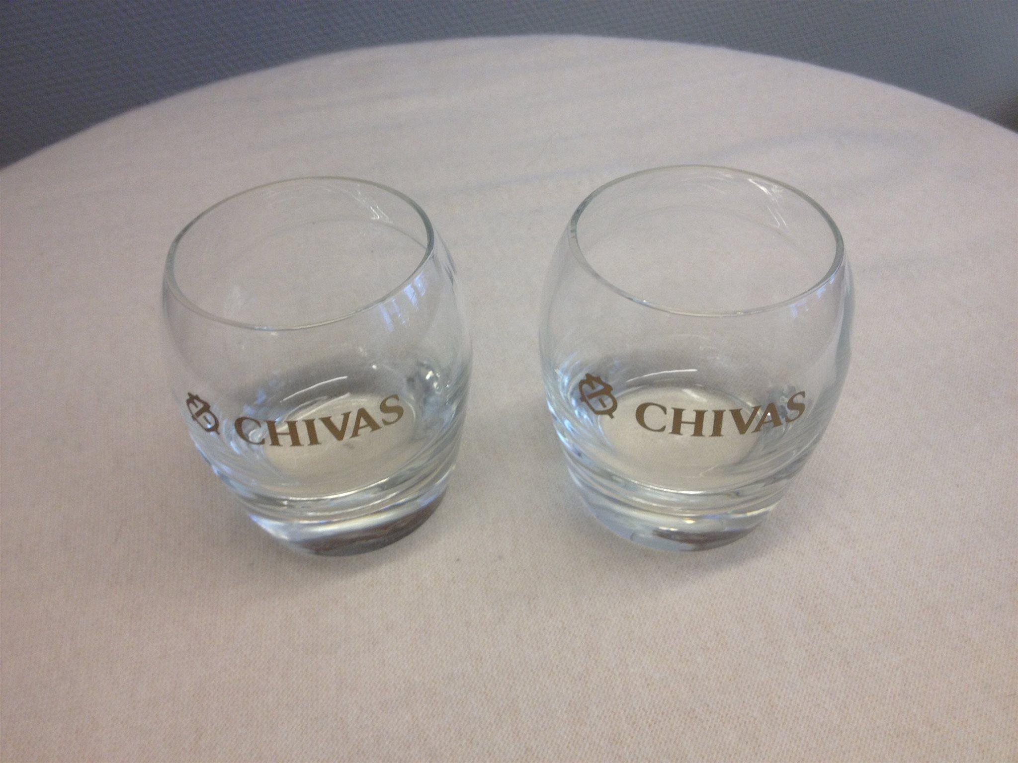 Elegant Regal Glas Foto Von Chivas