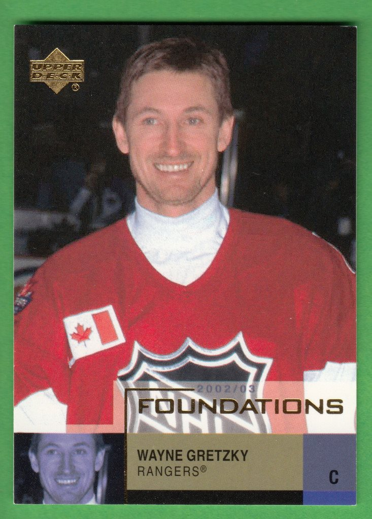 2002-03 Upper Deck Foundations  #45 Wayne Gretzky New York Rangers