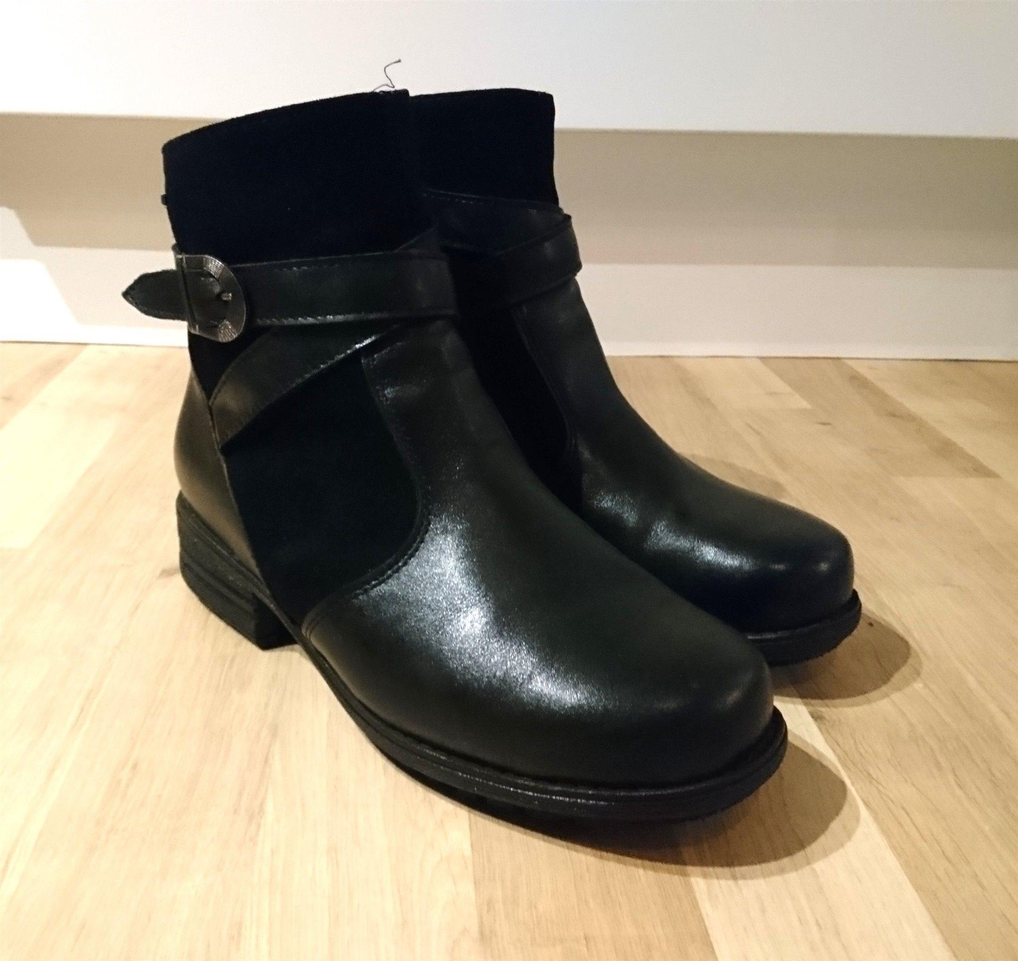 e2cac141e3c Vinterskor kängor svarta läder Pomar storlek 39.. (334366698) ᐈ Köp ...