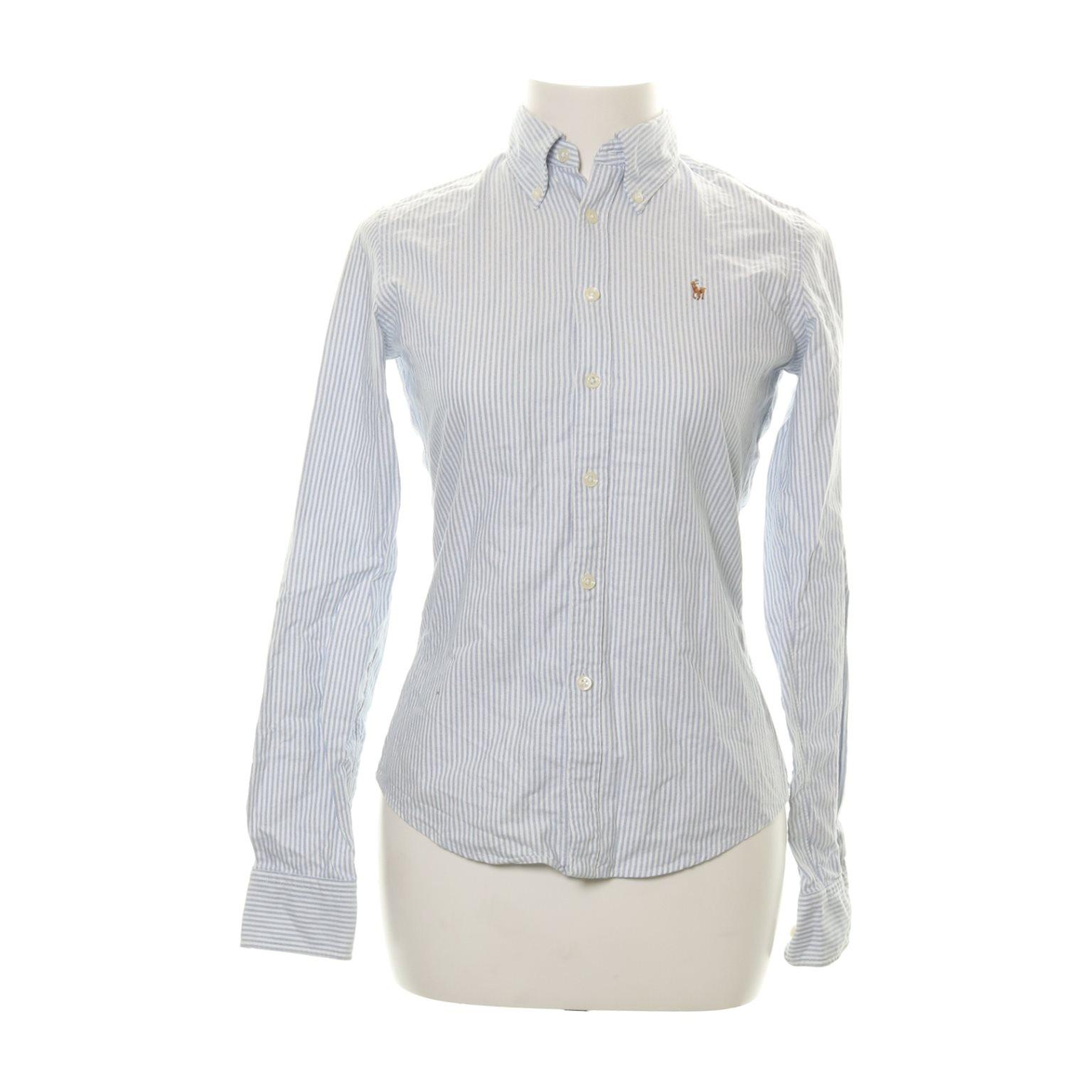 Ralph Lauren, Skjorta, Strl: 34, Skinny Fit, Vit/Blå