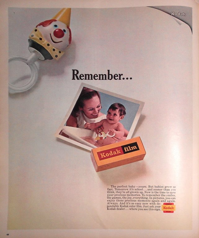 KODAK FILM - REMEMBER TIDNINGSANNONS Retro 1968