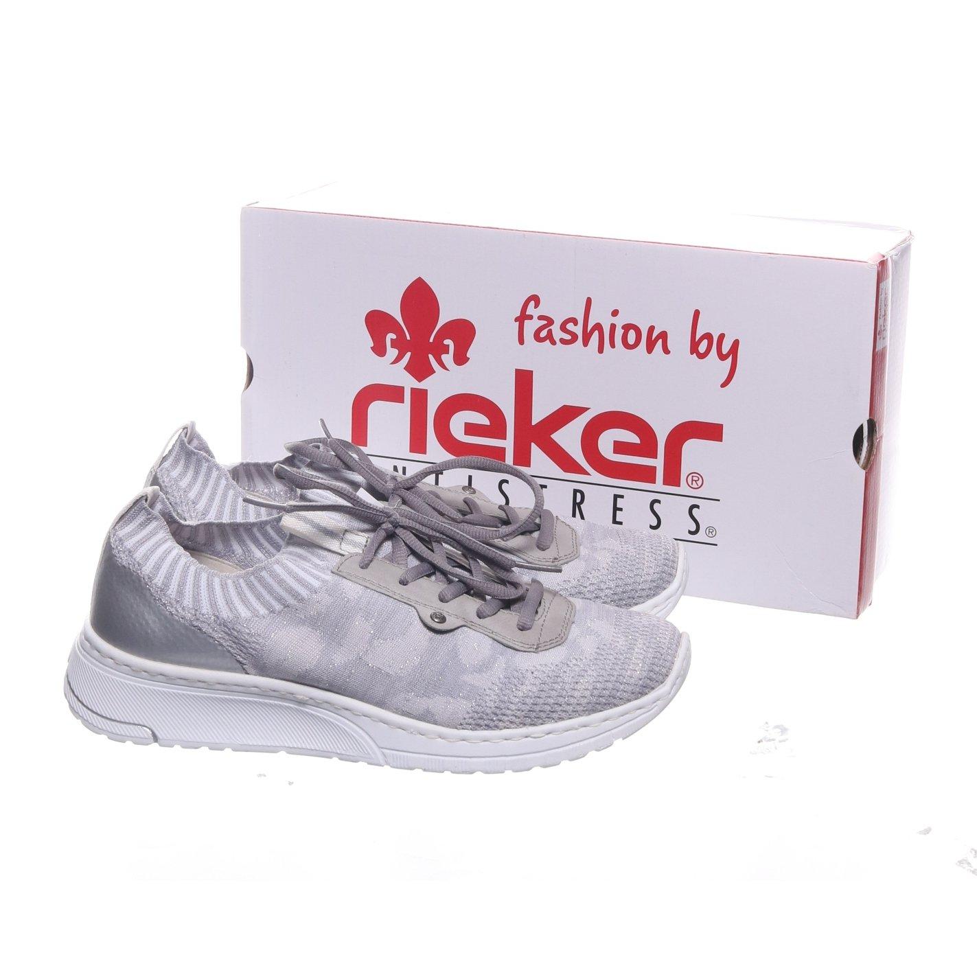 Rieker, Sneakers, Strl: 39, N5059 42, Silverfärgad