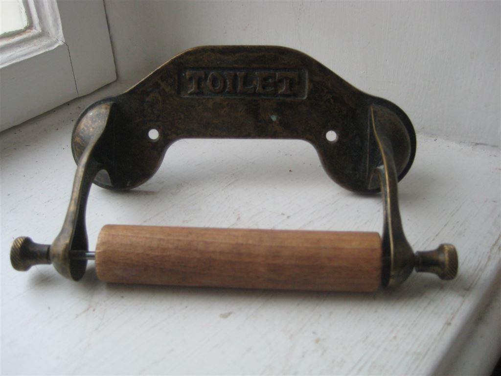 Exklusiv italiensk toalettrullepappershållare brons antik gammal stil