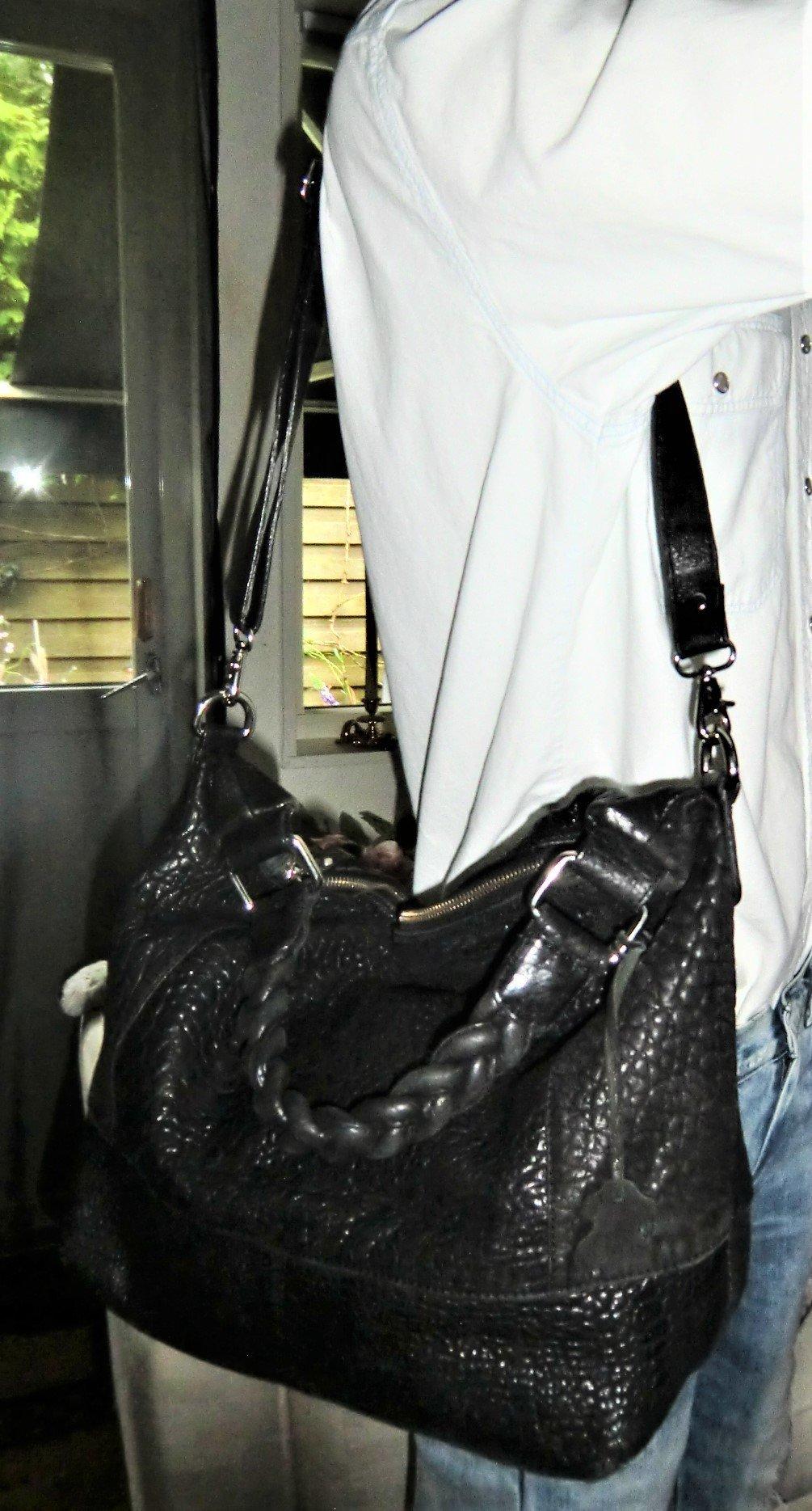 Super fin, Vintage , Italiensk Högkvalitets Läder väska