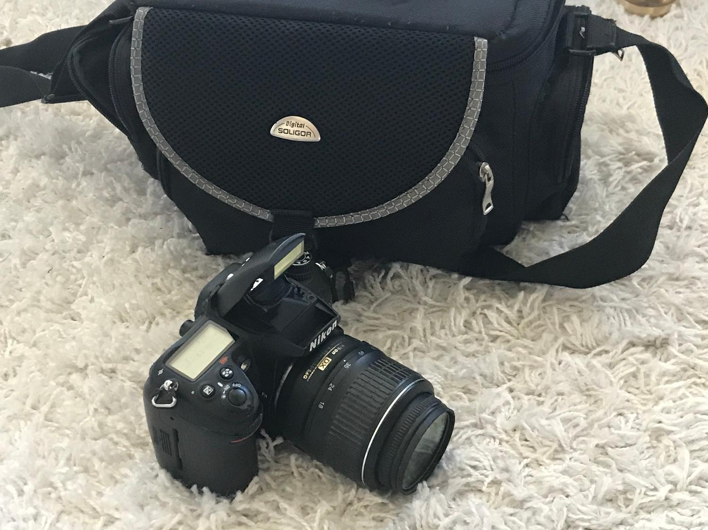 KOMPLETT Nikon D7000 objektiv, väska, minneskort