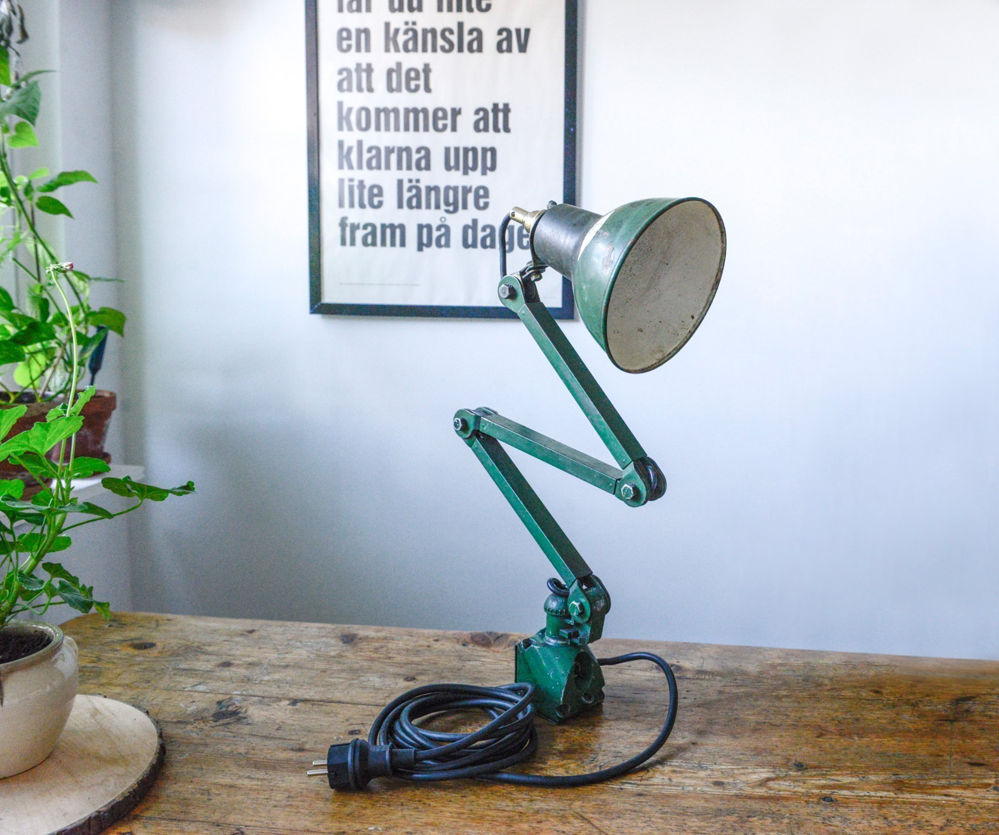 Vintage industrilampa 1930 tal (416733233) ᐈ Köp på Tradera
