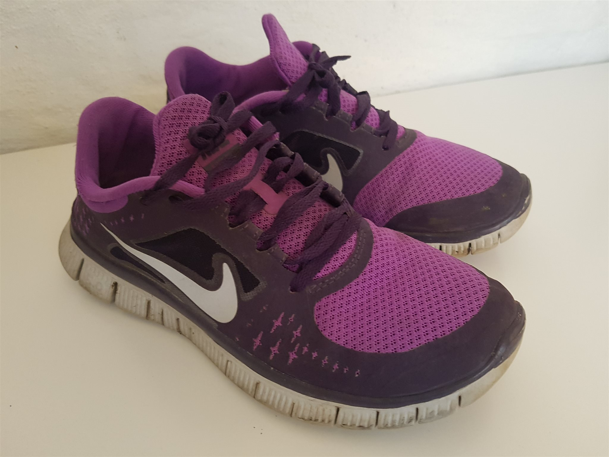 separation shoes 55cfe bd4ce ... quality design 7af82 5712b Lila Nike Free Run 3 skor sneakers storlek 38