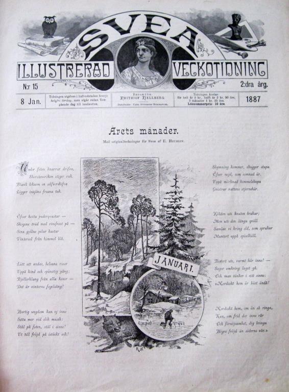 Svea 1887-15 På Isen Hans Dahl Inramningsbar Tavelbild