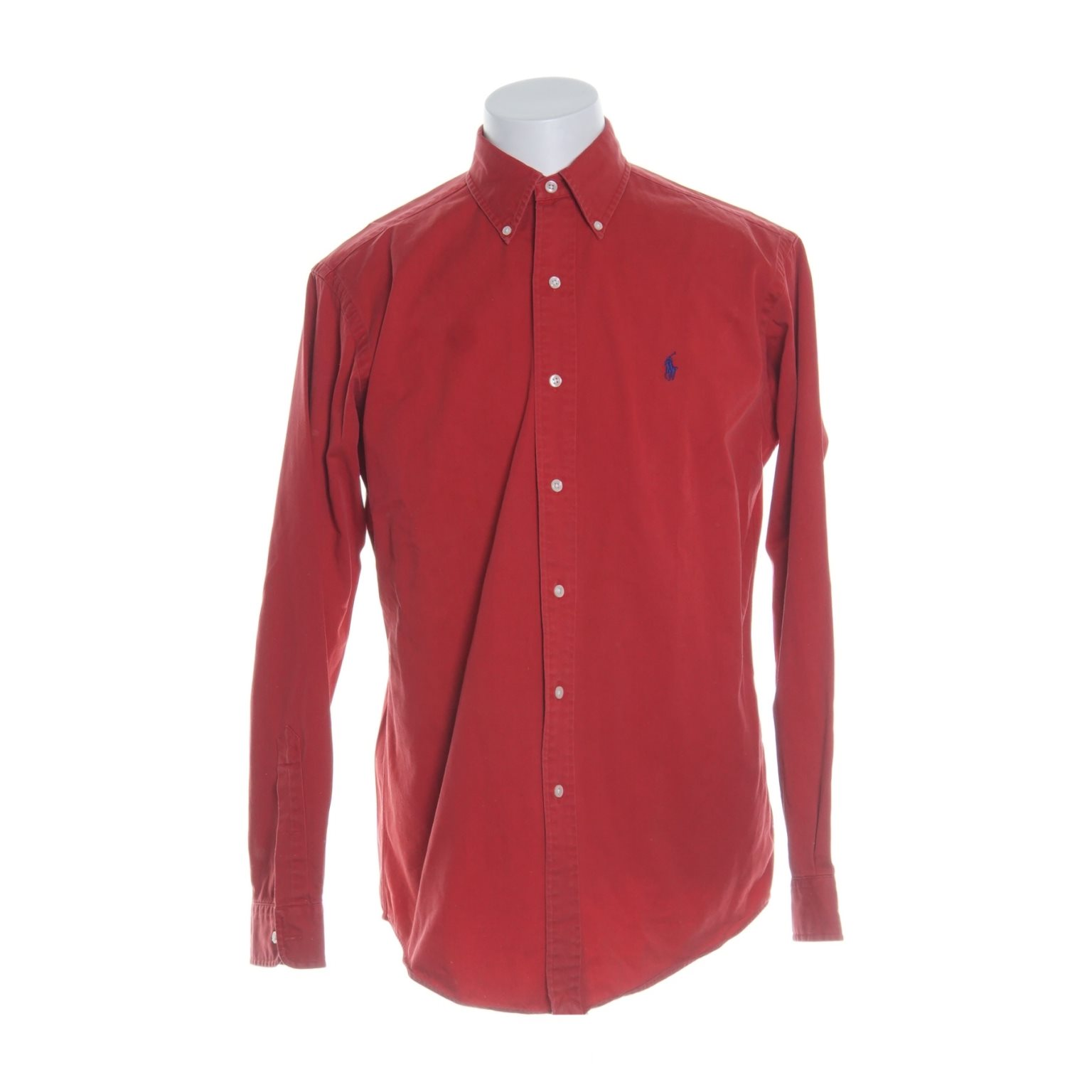 vinröd ralph lauren skjorta