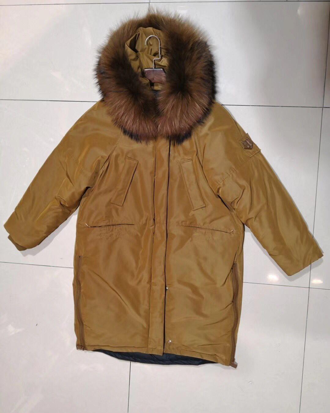 Oanvänd dunjacka jacka vinterjacka kappa med äkta päls pälskrage. Storlek S 28f414a3cac54