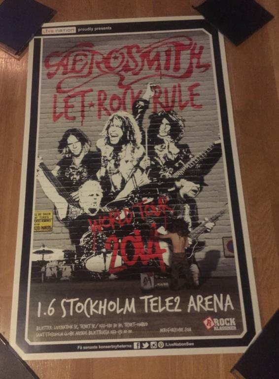 AEROSMITH TURNÉAFFISCH 2014