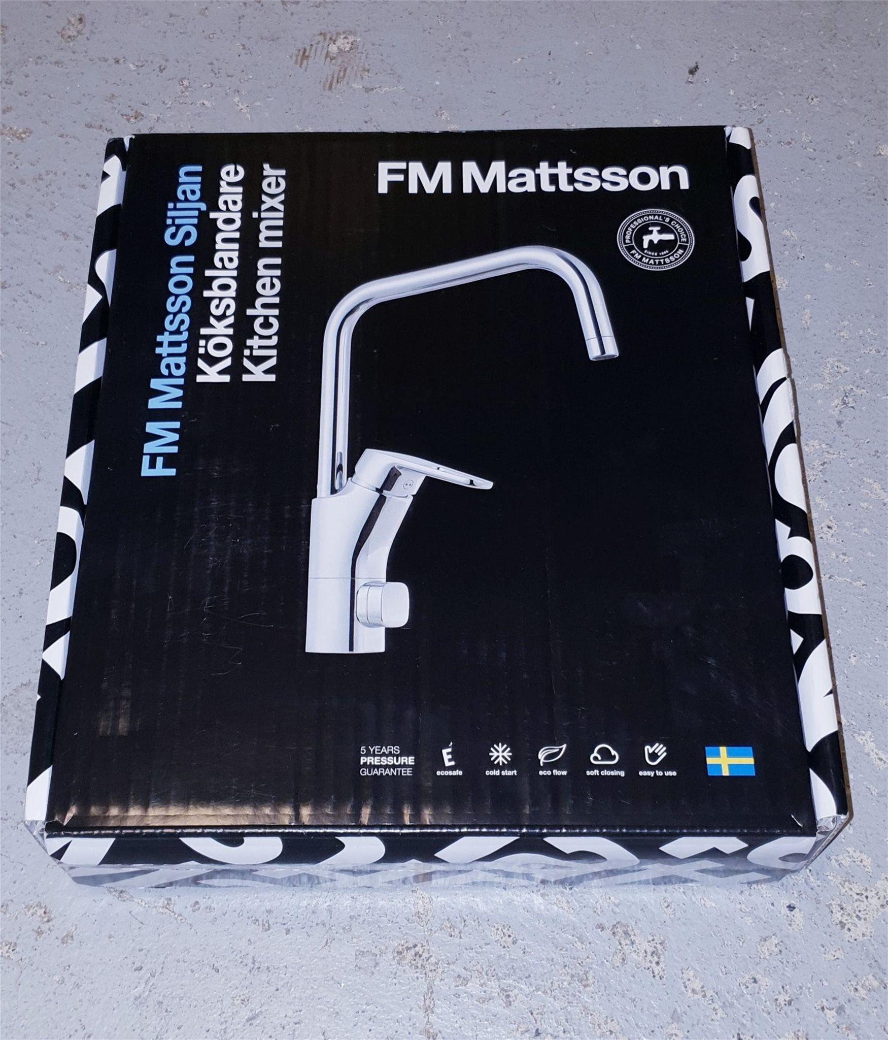 FM Mattsson Siljan blandare med diskmaskinsavstängning.