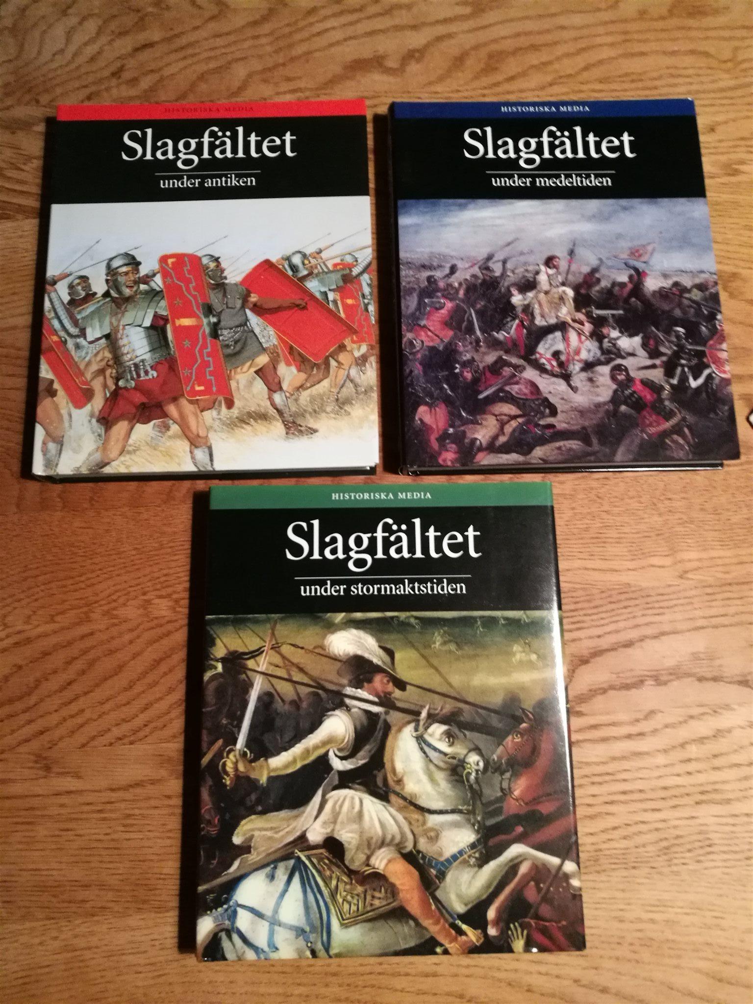Slagfältet under antiken - medeltiden - stormaktstiden 3 vol / Historiska media