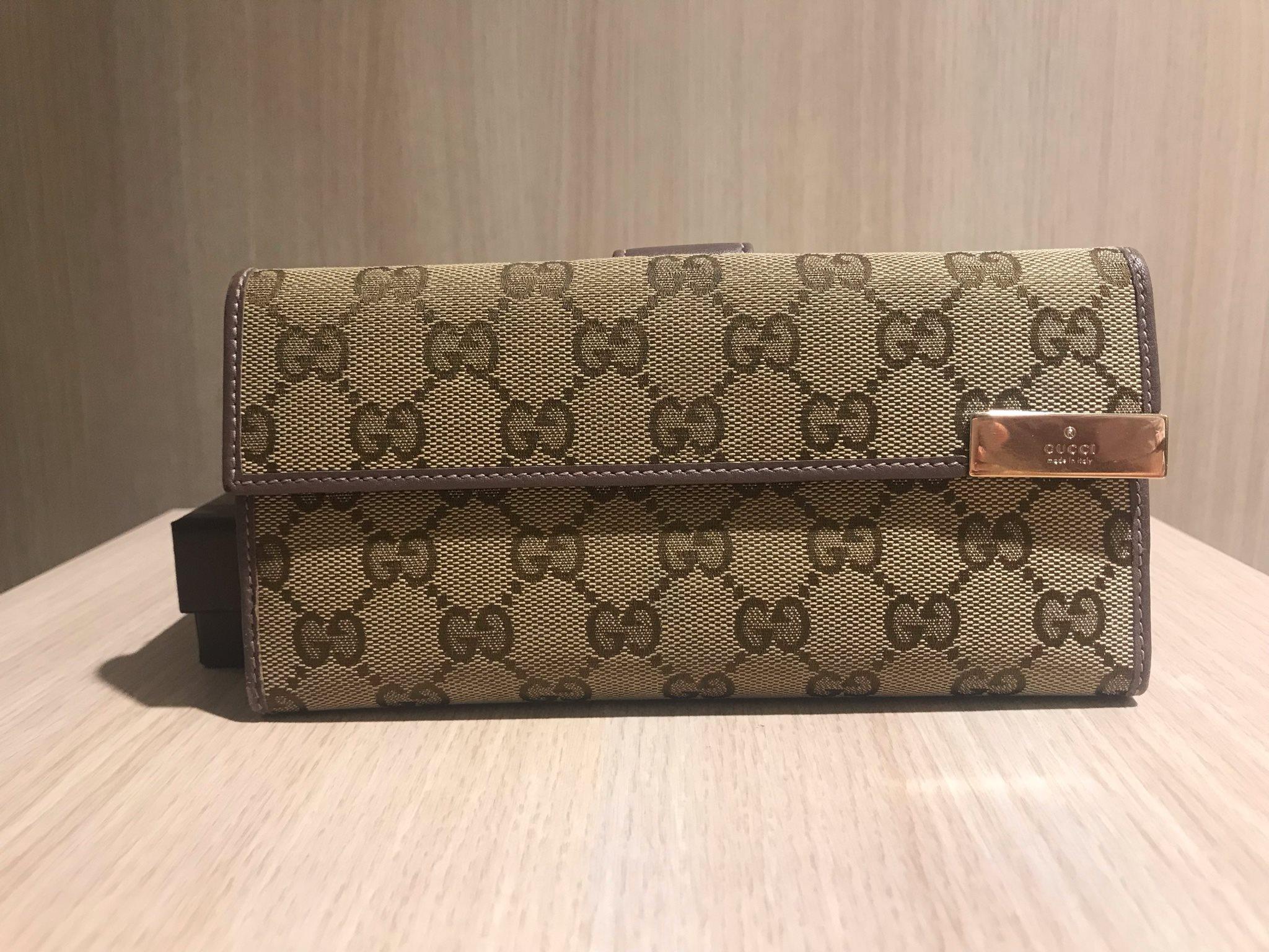 2de093a3de4 Gucci Canvas plånbok med lila detaljer (340352630) ᐈ Köp på Tradera