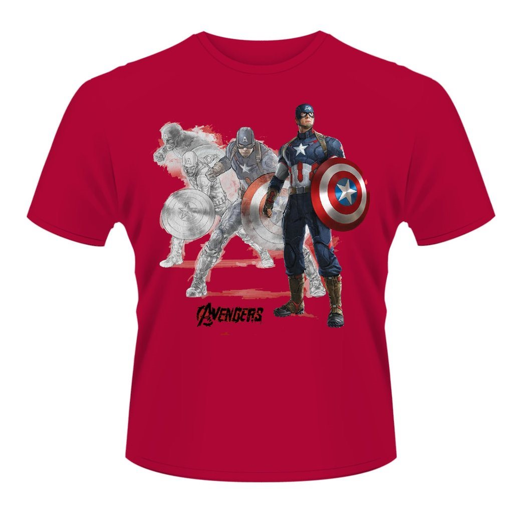 MARVEL AVENGERS- CAPTAIN A DRAW T-Shirt - Small