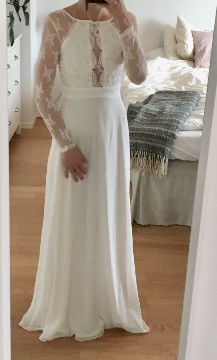 f1b67602c1c7 Vit brudklänning klänning spets Nelly NLY Eve Whenever Lace Gown stl S ...