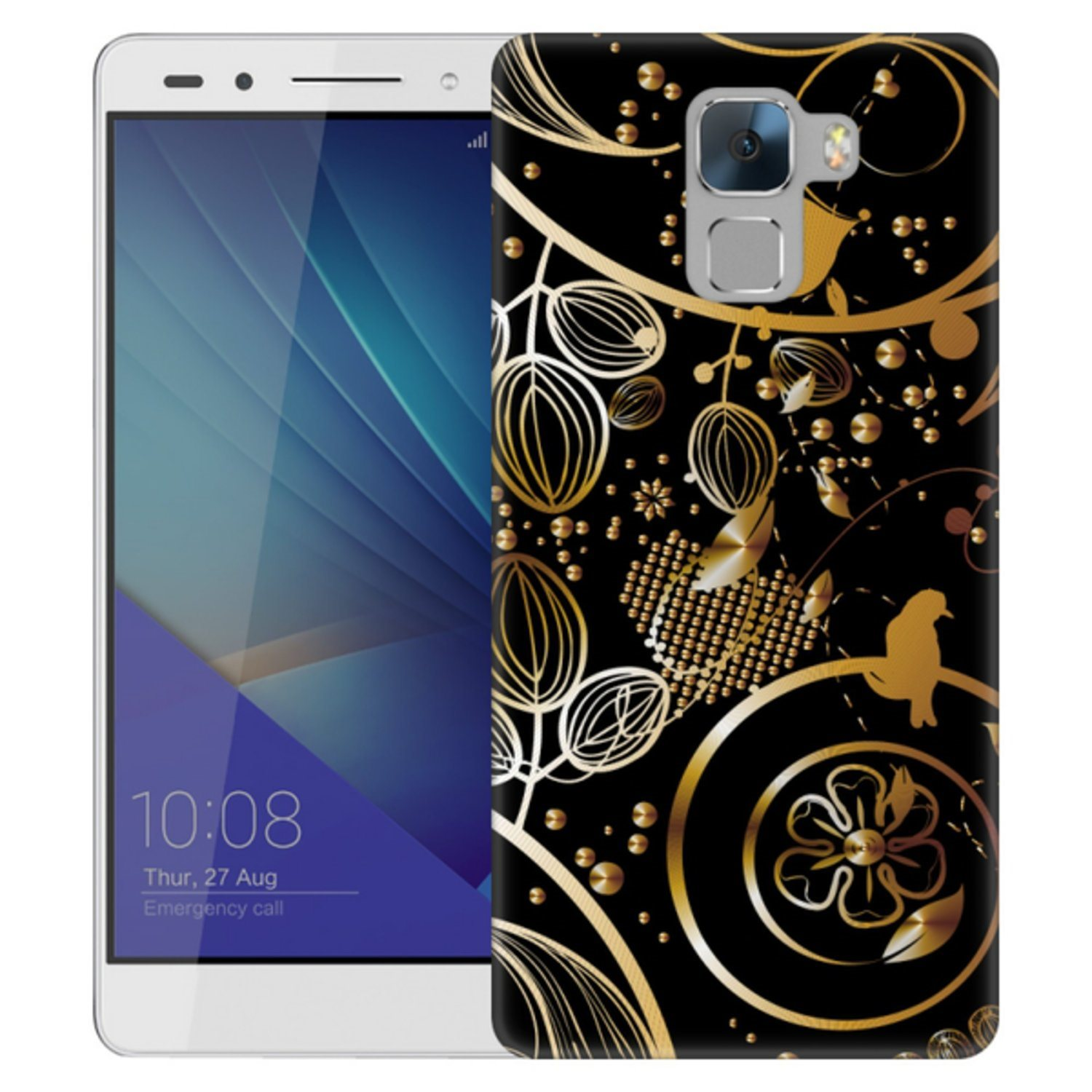 Huawei Honor 7 Skal Guldmönster