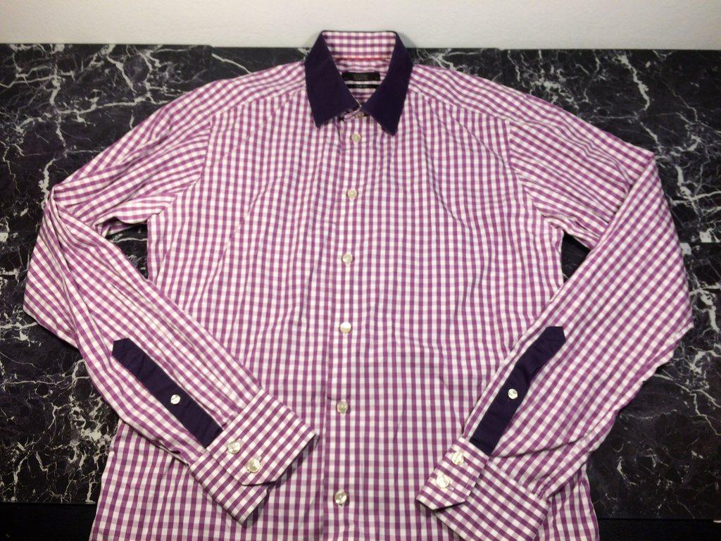 Eton Slim Fit Skjorta Röd Vit Rutig med kontrastmönster - Storlek 40  (Medium) 839a5cf7d025d