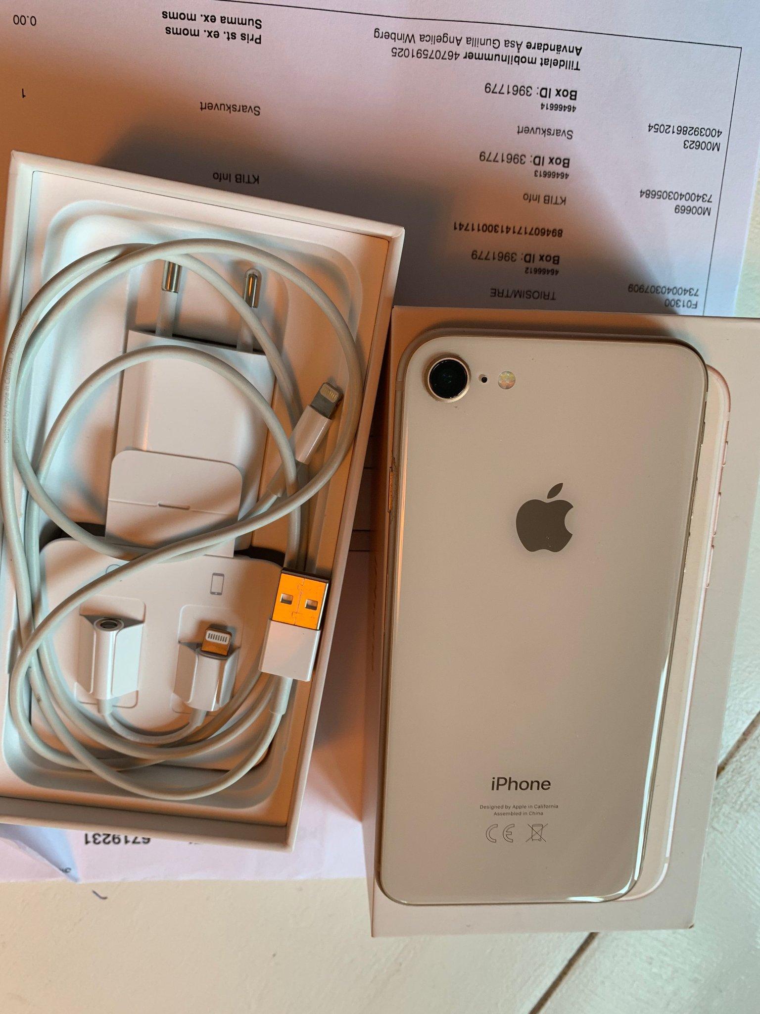 iPhone 8 64GB Guld med kartong laddare (368048417) ???Köp på