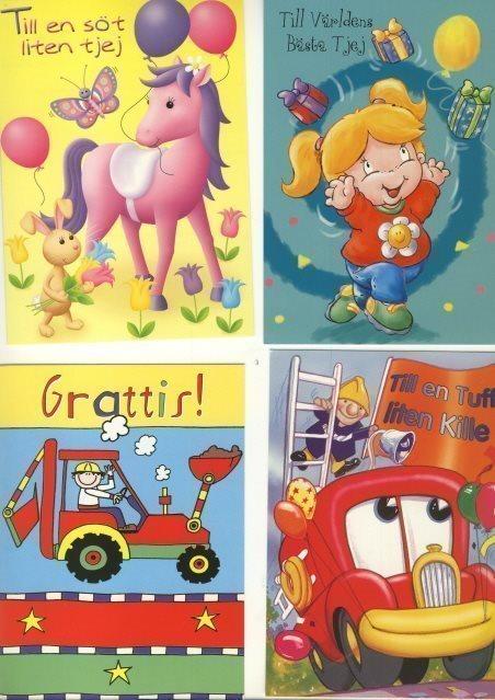 grattis barn 10 OLIKA VYKORT   GRATTIS till BARN både till P.. (320371568) ᐈ  grattis barn