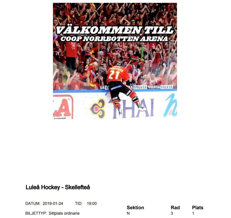 luleå hockey biljetter