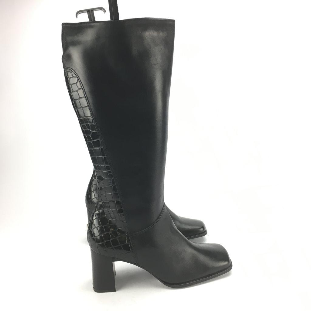 e43d9a31f02 TAMARIS svarta läder Stövlar strl 40 (343904747) ᐈ Footly på Tradera